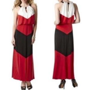 London Times Dresses & Skirts - REDUCED❗️Black + White + Red Maxi Dress