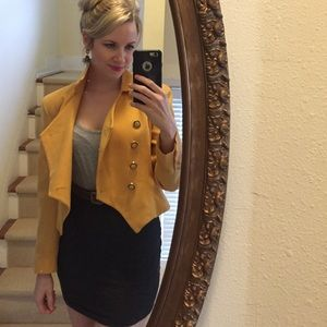 Vintage yellow military jacket