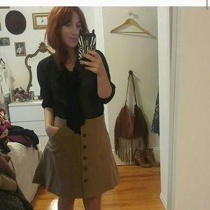 j.crew wool button up skirt