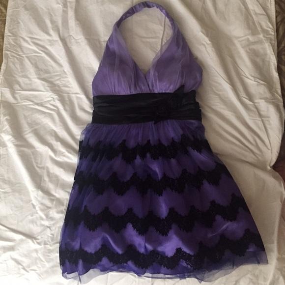 WINDSOR Dresses   Cute Purple Black Prom Dress   Poshmark