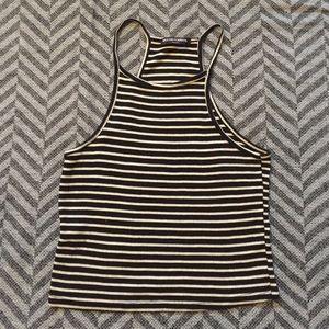 Brandy Melville black & white striped tank