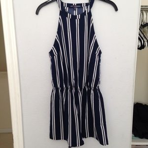 LF Pants - striped halter romper / playsuit, boho / festival