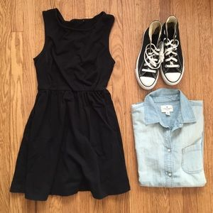 Little black a-line dress