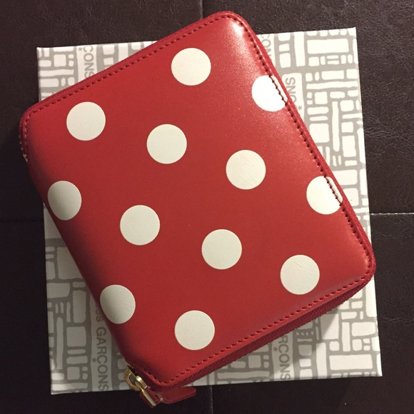 Polka Dots Wallet - Red Comme Des Gar?ons 01NcQIet
