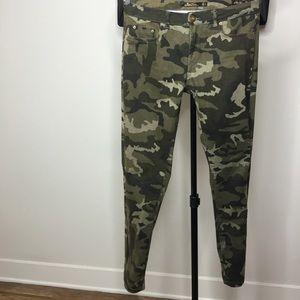 Zara army print pants