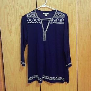 Embroidered Tunic Top Floral