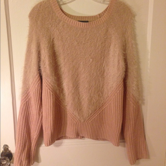 85% off Vince Camuto Sweaters - Fuzzy light pink sweater from ...