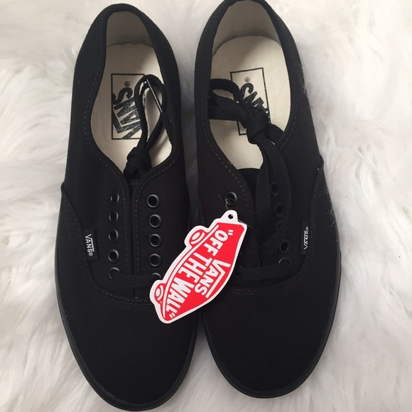 01fe33d873 Authentic Black Vans (Women)