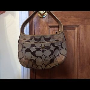 Coach shoulder hobo bag