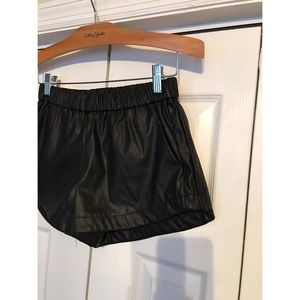 Forever 21 Black Faux Leather Shorts