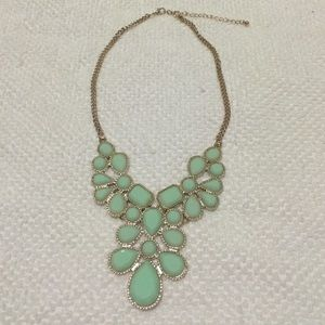 Jewelry - Deadpan Green Statement Necklace