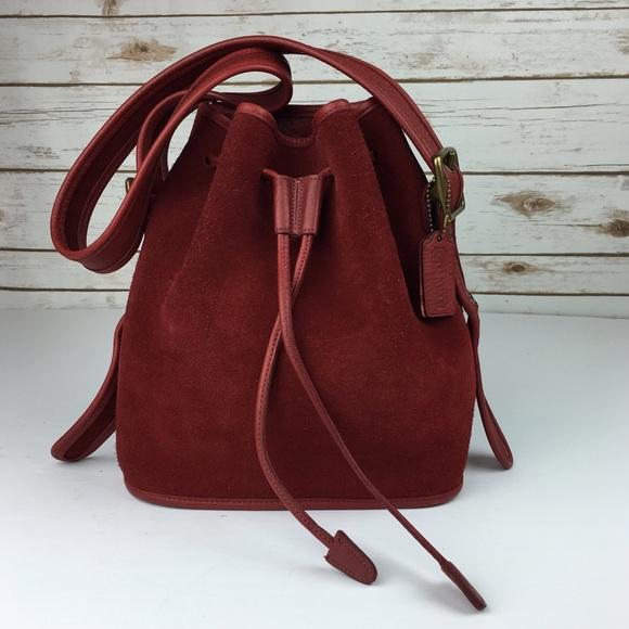 c55067c4ad80f Coach Handbags -  Vintage  Coach Berkeley Suede Bucket Bag Red 9012