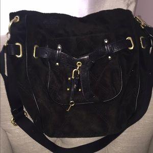 Juicy Couture Black Velour Crossbody/Shoulder Bag