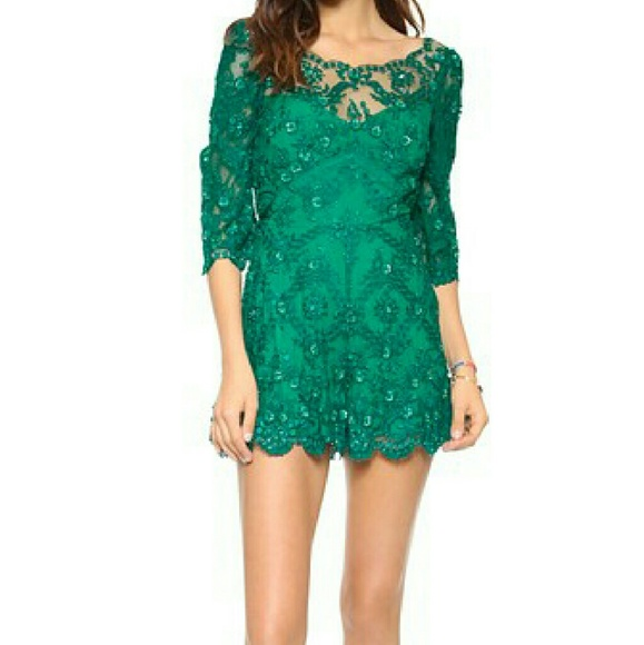 c7a4ec119a71 Free People Songbird Embroidered Romper