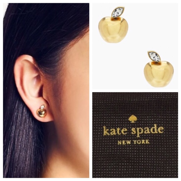 Ksny Apple Of My Eye Gold Crystal Studs
