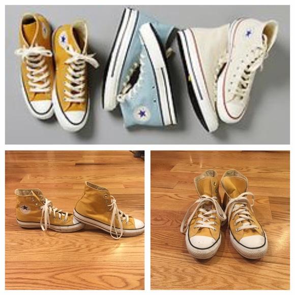 9b52adb89989 Converse Shoes - Mustard Yellow High Tops