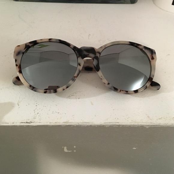 6151ac12d1c AQS Accessories - AQS White Havana mirrored lens sunglasses