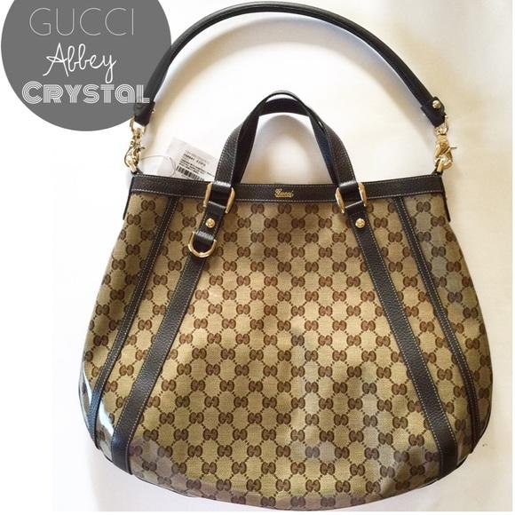 66575708fa6 Gucci Abbey Crystal Convertible Tote