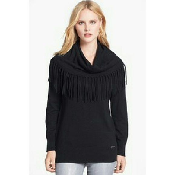 77% off Michael Kors Sweaters - Michael Kors Fringe Cowl Neck ...
