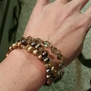 Gorgeous handmade toggle bracelet