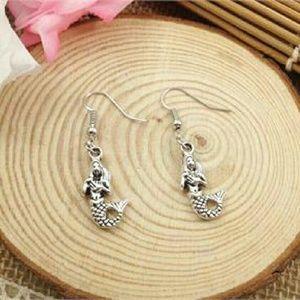 Jewelry - New Fashion Mermaid Earrings in Antique Silver