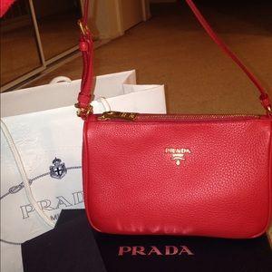 48% off Prada Handbags - BNWT Prada nylon Pochette bag 100 ...