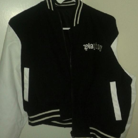 2d4502fb00f15d Official Playboy leather varsity jacket  letterman