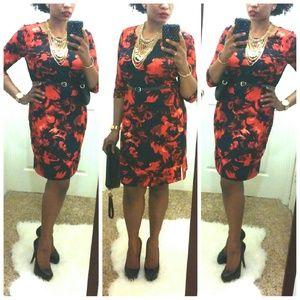 °Merona° Navy/Red Tunic Dress