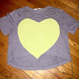 Laugh Cry Repeat Tops - Laugh Cry Repeat Green Heart Tee