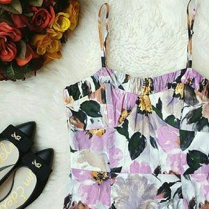 Alyn Paige Dresses & Skirts - {Alyn Paige} Spaghetti Strap Floral Mini Dress