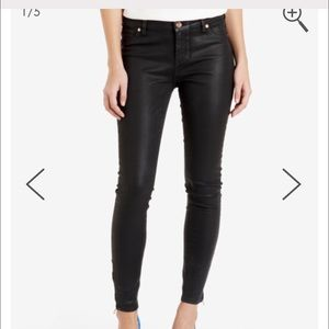 Ted Baker Annna Wax finish black jeans size 27