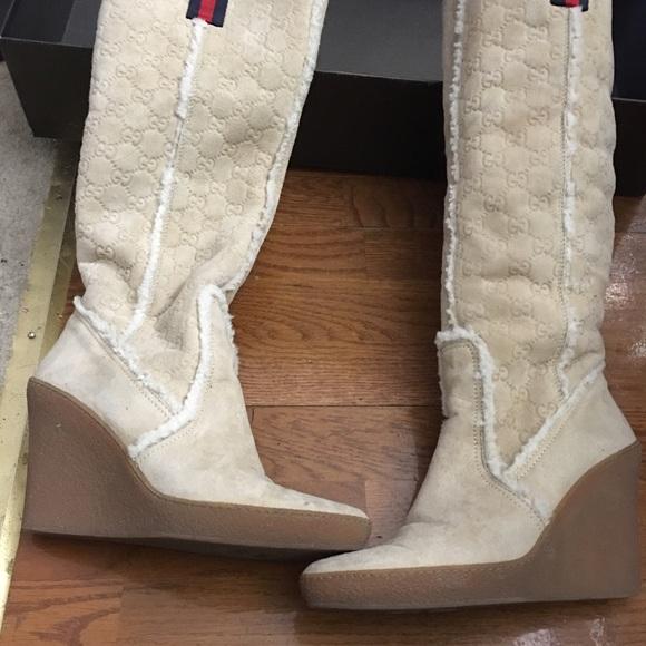a320d639 Gucci shearling boots