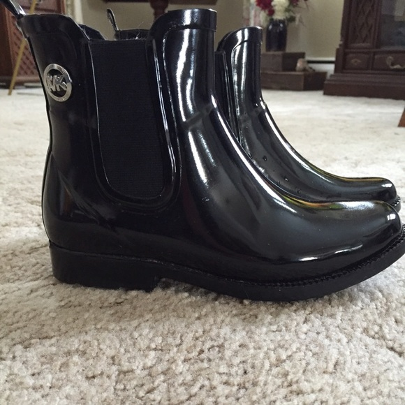 77% off Michael Kors Shoes - Michael Kors Short Black Rain Boot ...