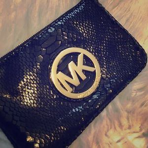 Michael Kors Handbags - ‼️ WKND SALE ‼️ Michael Kors, Reptile Wristlet