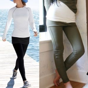 AMELIA skirt leggings - BLACK