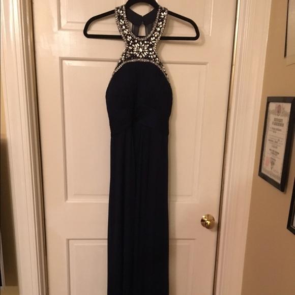 Xscape Dresses | Navy Blue Formal Dress | Poshmark