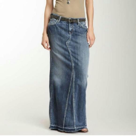 49 silver dresses skirts denim maxi skirt