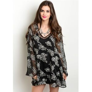 New embroidered floral dress