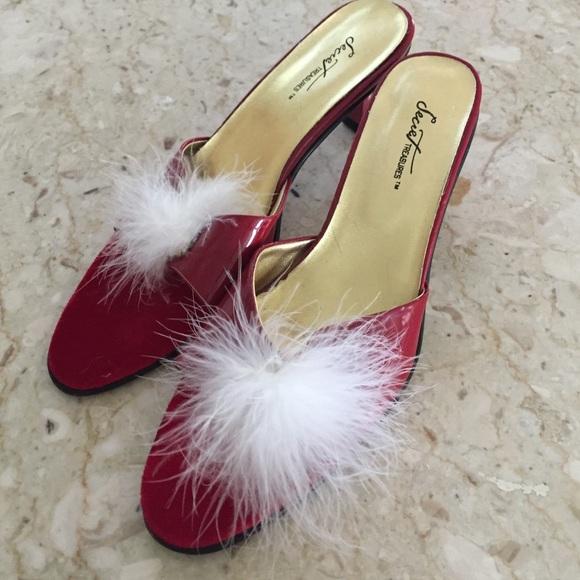 475cecfdd427e ☘Just In! Vintage Boudoir Slippers/Heels. Size 8.5