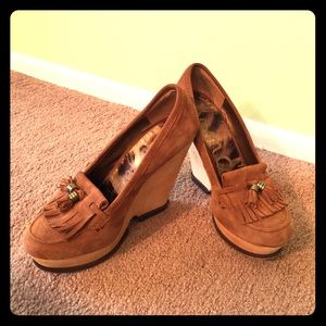 Sam Edelman wedge suede oxfords 7.5