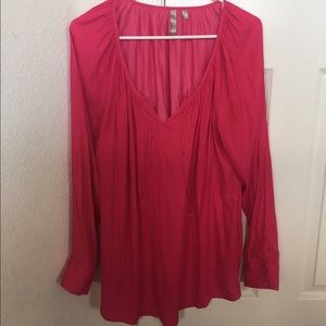 Thyme Tops - Hi low hot pink tunic/top