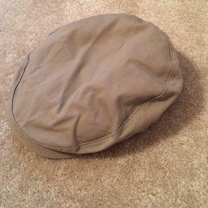 Tan Flat Cap with Adjustable Strap