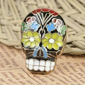 Jewelry - ❤💋Punk Goth enamel flower Skull adjustable Ring