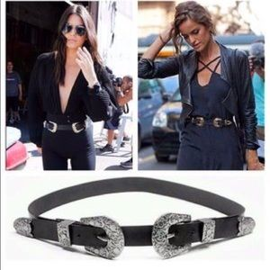 The KENDAL Double Buckle Western Style Belt