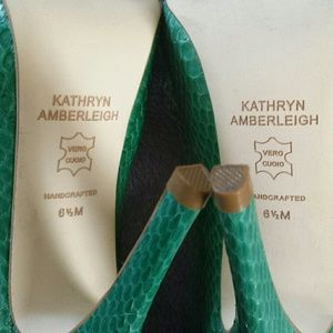 Kathryn Amberleigh Shoes - Kathryn Amberleigh Snakeskin Heels, handmade