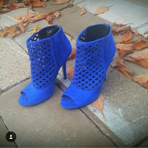 Cobalt blue booties