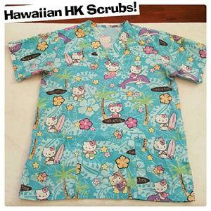 Cute Hello Kitty Scrub Top