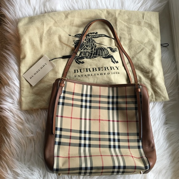 81a058d3a080 Horseferry Check Small Canterbury Panels Tote. NWT. Burberry