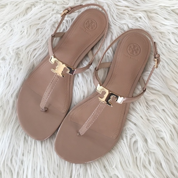 65d9a853c11b6d Tory Burch Nude Flat Sandals