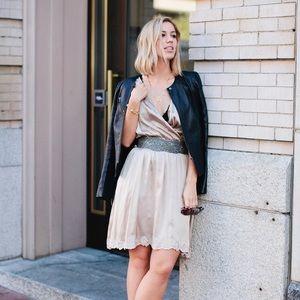 SUNO Dresses & Skirts - REDUCED! SUNO champagne slip dress
